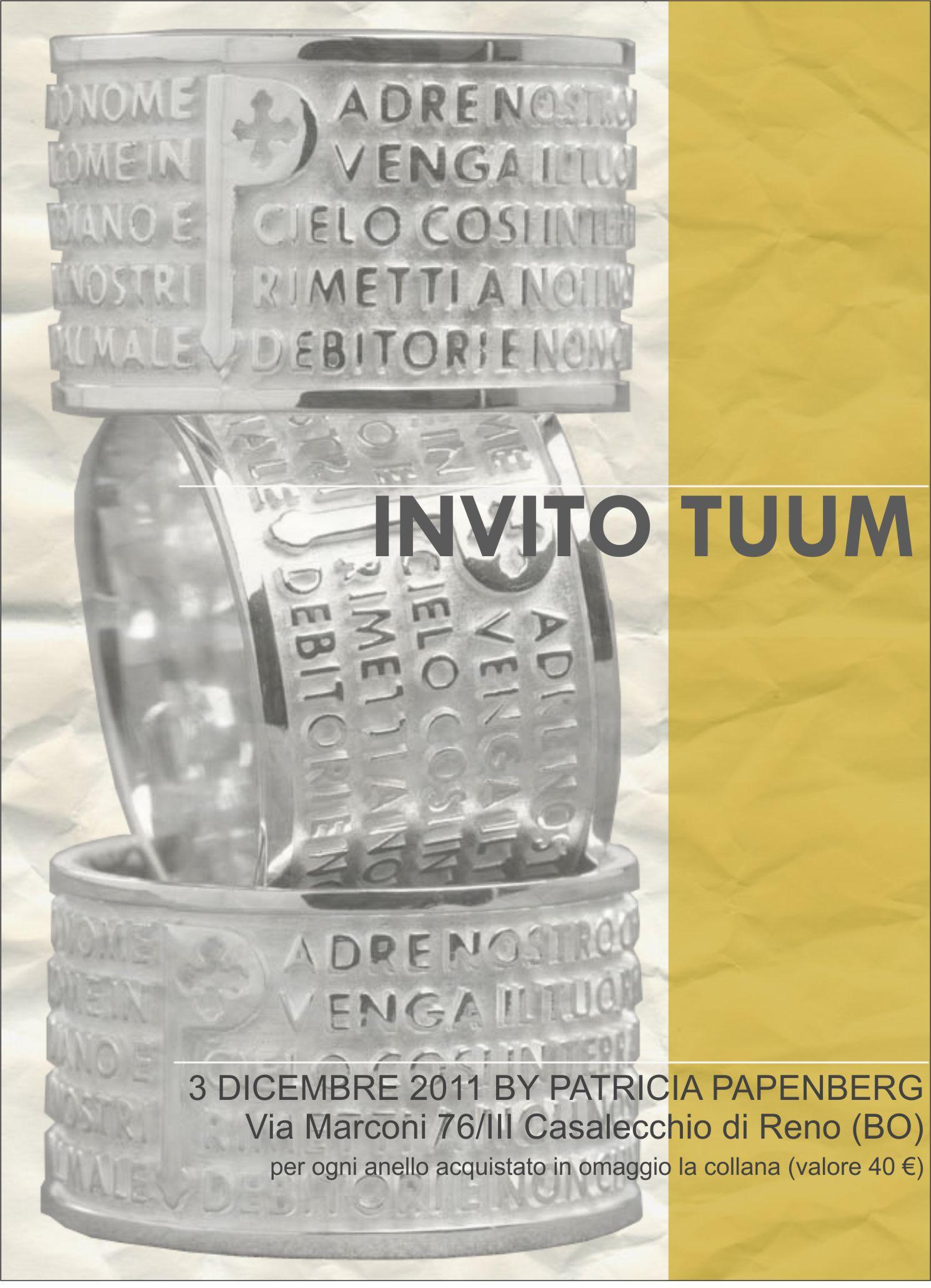 Giornata Tuum - 3 dicembre 2011 presso la gioielleria Patricia Papenberg